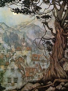 Anton Pieck - This is the sort of illustration I want to climb inside and live i. - Homebrewed - - Anton Pieck - This is the sort of illustration I want to climb inside and live i. Art And Illustration, Book Illustrations, Inspiration Art, Art Inspo, Fantasy Kunst, Fantasy Art, Anton Pieck, Dutch Painters, Dutch Artists