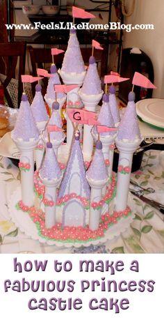 How to Make a Princess Castle Cake