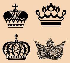 Crown tattoo designs collage