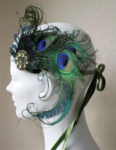 Peacock facinator - add a little steampunk vibe?