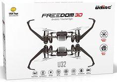 UDI Freedom U32 RC Mini Quadcopter Drone RTF - Inverted Flight Stunt Master - Headless Mode - One Key Return - 3D Flips - LED Lights + BONUS Battery (Doubles Flying Time)