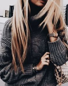 Cozy warm winter outfit sweater style