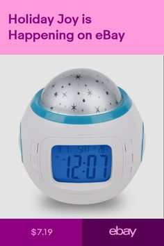Home & Garden Ingenious New Magic Led Color Change Star Sky Night Light Projection Projector Alarm Clock