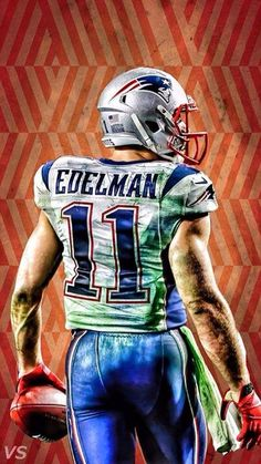 Cool painting of Julian  Edelman! #GoPatriots
