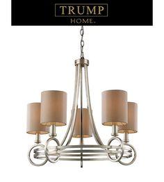 ELK Lighting New York 5 Light Chandelier in Renaissance Silver 31006/5 #lightingnewyork #lny #lighting