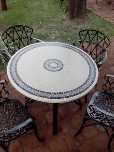 Mosaic Pots, Mosaic Tiles, Mosaics, Unique Dining Tables, Mosaic Projects, Mosaic Patterns, Mosaic Designs, Florida Home, Tile Art