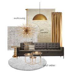 Gold !  #home #gold #interior #design #interiordesign #decor #trend #chic #love #like #pinit #collage #color # designers Gold Interior, Interior Design, Gold Chandelier, Gold Table, Collages, Designers, Chic, Color, Home