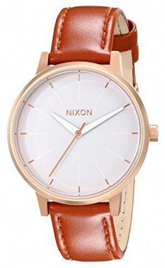 9c877dd62c1 Nixon Womens A1081045 Kensington Leather Watch -- You can get more details  by clicking on