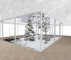 illustration- interior courtyard