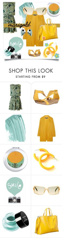 """""""Stay Golden: Dressing in Marigold"""" by kari-c ❤ liked on Polyvore featuring Maison Scotch, Kenneth Cole Reaction, Chanel, Rochas, NYX, Marni and marigold"""
