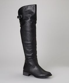This Black Olympia Over-the-Knee Boot by Nature Breeze is perfect! #zulilyfinds
