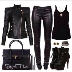 I love this all black outfit