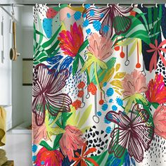 HONDURAS shower curtain for DENY Designs by Khristian Howell