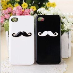 For Apple iPhone 4 4S Case Cover Avanti Moustache for Lover & Couple 2 Pieces Black and White by OEM, http://www.amazon.co.uk/dp/B00DAYFRE2/ref=cm_sw_r_pi_dp_uUdbsb03YJKA8