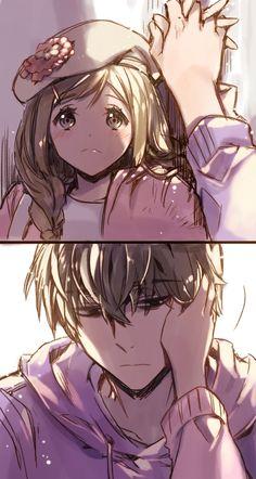 Osomatsu-san- Ichimatsu and fem Todomatsu #Anime「♡」