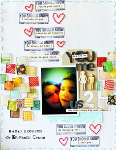 Layout by @Mandy Koeppen with the #epiphanycrafts Shape Studio Tool Square available at #MichaelsStores www.epiphanycrafts.com #scrapbook