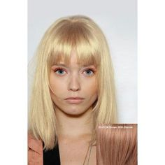 Fashion Medium Human Hair Straight Full Bang Wig For Women
