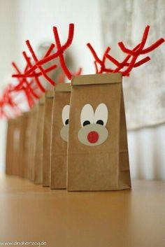 reindeer paperbags
