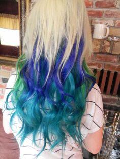 teal green hair