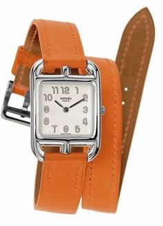 Absolutely LOVE this watch. I've been looking at this style for a few years and I love the orange...sadly it's quite pricey.  ShopStyle: Hermes Watch