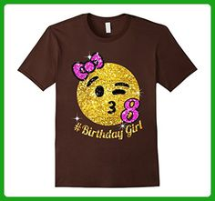 Mens OMG, It's my 8th birthday Large Brown - Birthday shirts (*Amazon Partner-Link)