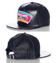 NEW ERA Faux leather San Antonio Spurs strapback cap Basketball NBA  Embroidered team logo on front 17868e5c5887