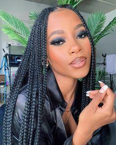 Bold Makeup Looks, Creative Makeup Looks, Black Girl Makeup, Girls Makeup, Beauty Makeup, Face Makeup, Hair Beauty, Hair Laid, Face Hair