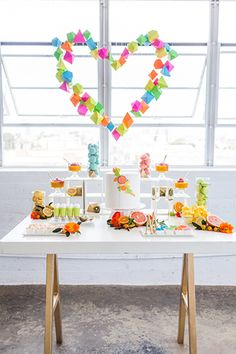 Neon wedding and party ideas | Photo by Christine Farah Photography | Read more - http://www.100layercake.com/blog/?p=76795