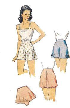 Vintage 1940's Sewing Pattern Lady's Pants Panties