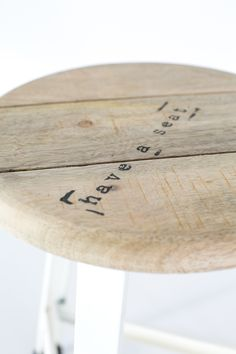 Have a Seat Stool - White - House Doctor | Superette $269