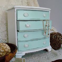 Jewlery Box  Extra Large Shabby Chic by 2PaintedDogs on Etsy, $87.00