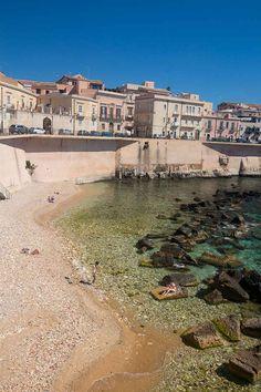 Ortigia Sicily Cala Rossa beach
