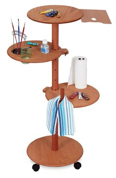 Multi-Level Artist Support Table, with paint pallet holder