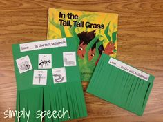 simply speech: In the Tall, Tall Grass {With a Freebie!} Story Retell Book Companion Activity. Pinned by SOS Inc. Resources. Follow all our boards at pinterest.com/sostherapy for therapy resources.