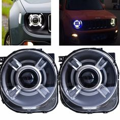 LED HID Headlight Projector with DRL & Bi-Xenon Lens For 2015 2016 2017 JEEp Renegade xenon Led Light Headlight Headlamp