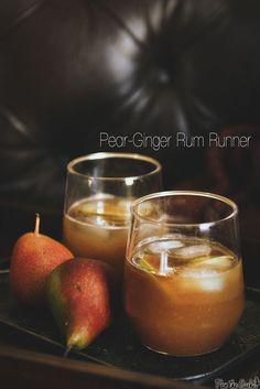 Pear-Ginger Rum Runner Cocktail | PasstheSushi.com