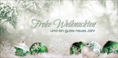 Weihnachtskarten 2017 für Firmen | Kategorie Grüne Impressionen | Motiv: Sanfter Baumschmuck - Artikel Nummer 11434