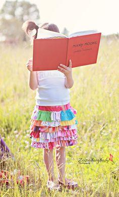 upcycled ruffle skirts
