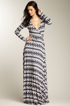 Long Wrap Dress. I think I can make this.