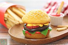 Hamburger Cupcakes and Cookie French Fries | From OhNuts.com
