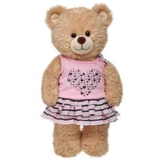 Outlet Light Pink Heart Tutu Outfit 2 pc.   Build-A-Bear