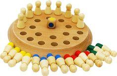Juego Memoria hecho de Madera - Tablero de Juegos Madera