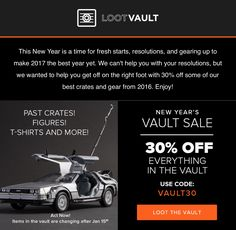 Two days only – save 30% on everything in the Loot Vault!     Loot Crate Vault Coupon: Save 30%! →  http://hellosubscription.com/2017/01/loot-crate-vault-coupon-save-30/ #LootCrate  #subscriptionbox