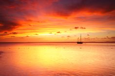 Scarlet Sunset in Bonaire, Dutch Caribbean