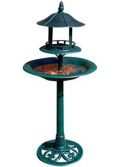 Kingfisher Ornamental Bird Bath & Table (BB01) - Kingfisher available at Garden Toolbox