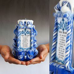 Blessing candle  Jewish candle  Jewish Home by primacandle on Etsy, $24.00