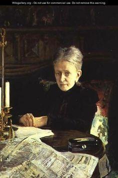 Portrait of Elena Osipovna Likhacheva (1836-1904) Writer and Social Activist, 1892 - Nikolai Nikolaevich Ge (Gay)