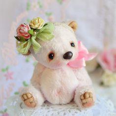 Купить Флёр (6 см) - бледно-розовый, нежно-розовый, нежность, мишка тедди