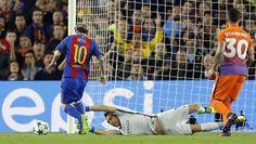 Messi, super 'Pichichi' de la Champions con su segundo 'hat trick'