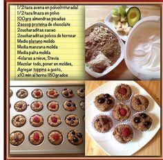 Muffin receta de sweetfran siguela en instragrama o keek